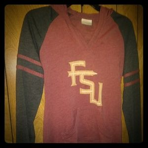 Columbia long sleeve FSU shirt with hoodie
